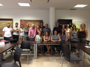 s alumnos tras finalizar el seminario impartido en la Universidad Popular de Mazarrón